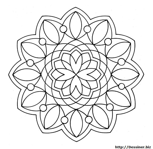 This Beginners Mandala Coloring Sheet Is A Fun Design And Easy To Color 81 Page Can Be Decorated Online With The Interactive