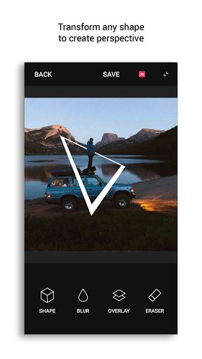 Shapical Pro v2.1041   Shapical Pro v2.1041Requirements:4.1 and upOverview: Shapical Pro unlocks all features of the app (all sets and the Eraser tool)   Shapical is a game-changing photo editor created to transform your photos into elegant designs with sharp geometric shapes. Our app is very simple to use: you can turn your shots into artworks in just a few taps. Intuitive interface and clean design make the editing process incredible fun.  The app features:  - 300 unique shapes - 3D and…