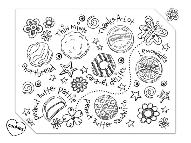 girl scout cookies coloring pages photo - 1