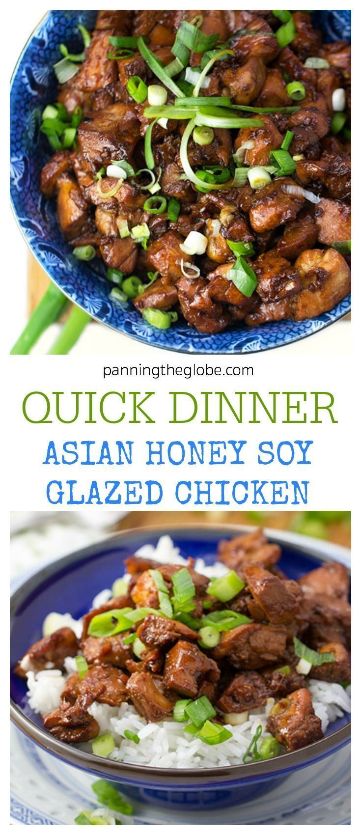 Asian Honey Soy Chicken: Tender chicken with a very easy and totally delicious honey soy ginger glaze. Dinner in 30 minutes.