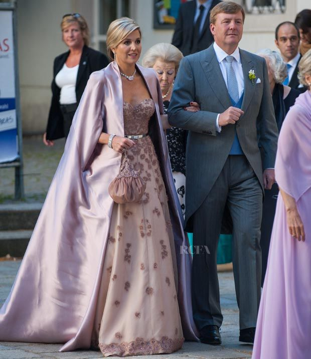 Queen Máxima of The Netherlands – Jan Taminiau Couture –  Juan Zorreguieta and Andrea Wolf's Wedding