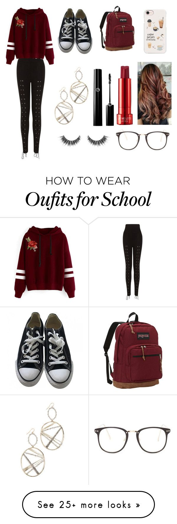 """""""Untitled #93"""" by couchpatato on Polyvore featuring Converse, JanSport, Casetify, Nasty Gal, Alexis Bittar and WithChic"""