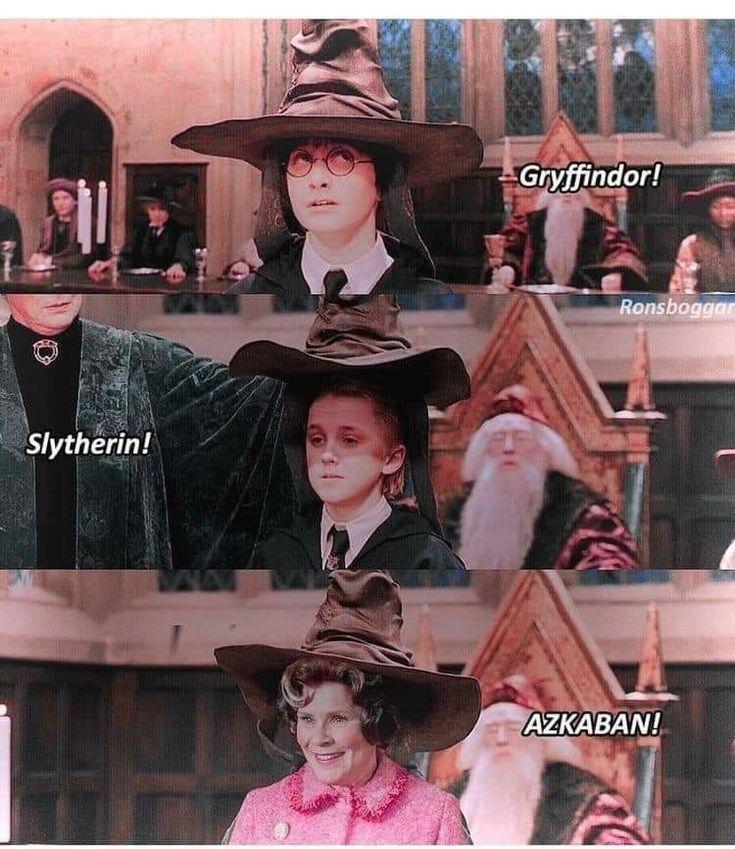 * ich * – Miss Dolores Umbrigde Sie werden vom Minster of Magic nach Azkaban geschickt, um die Studenten zu quälen