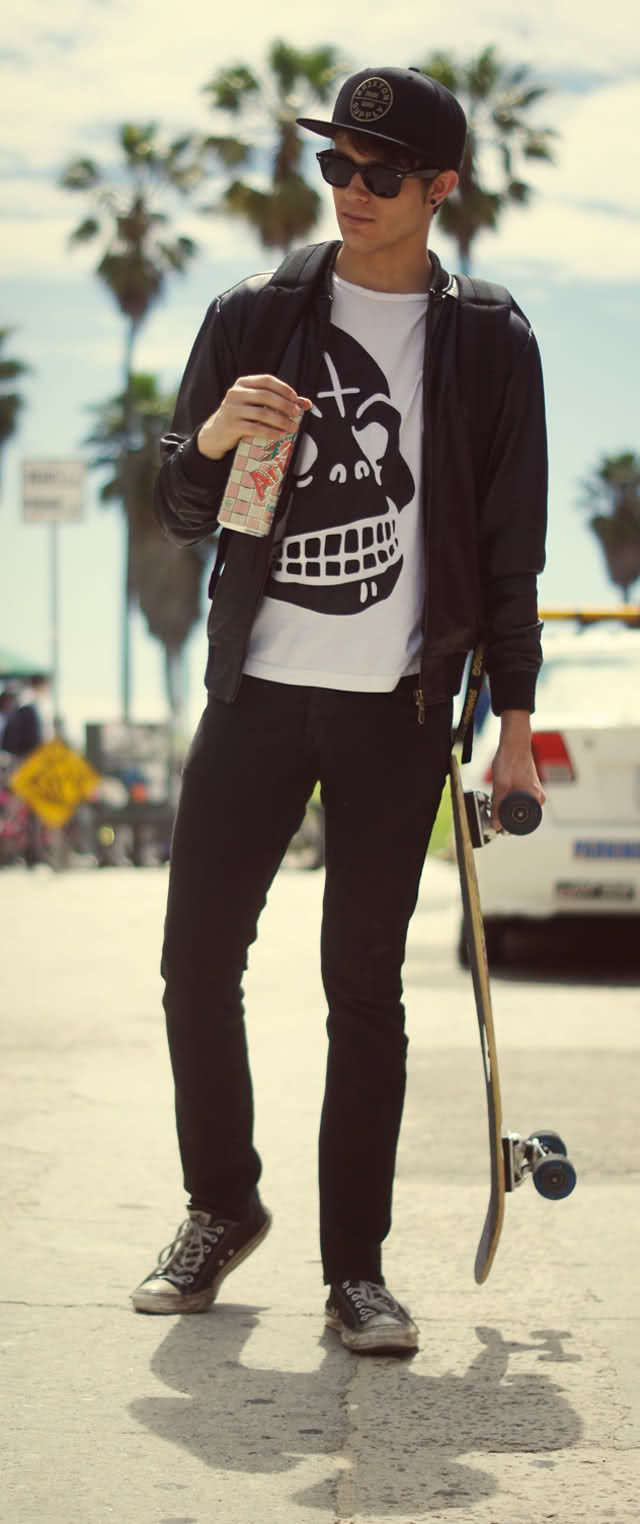 I Am Galla Skating In Venice Style Guide Pinterest Leather Jeans Skateboard And Boys