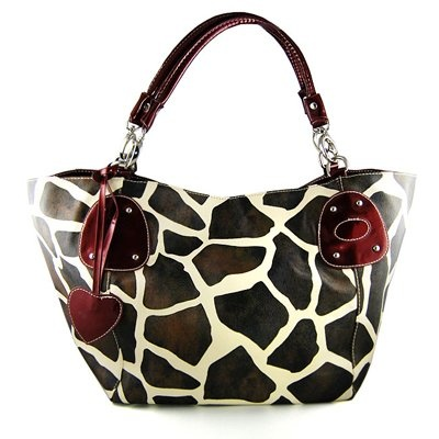 .: Leather Satchel, Prints Faux, Giraffes Prints, Vicki Giraffes, Handbags Purses, Large Vicki, Faux Leather, Satchel Bags, Bags Handbags