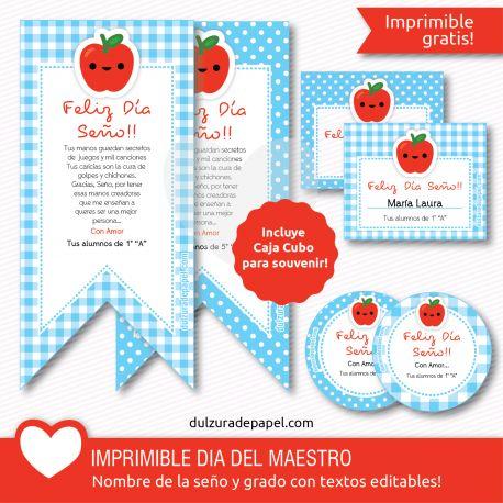 Imprimible día del Maestro para descargar GRATIS #imprimibles #printable