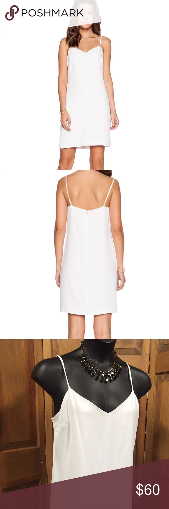 Trina Turk Basic White Shift Dress XL Polyester simple dress with back Zip. Item is new. Trina Turk Dresses