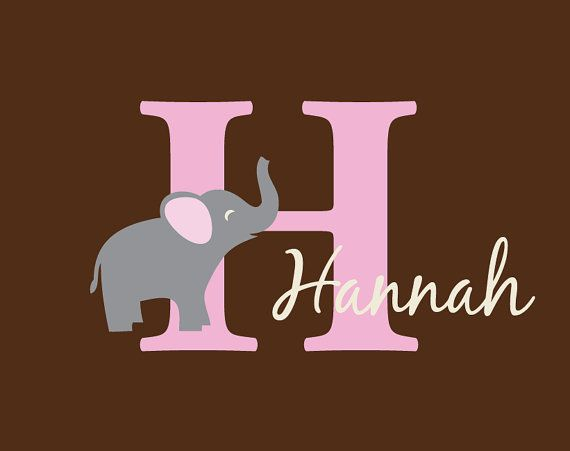 Custom decal with initial and name vinyl wall decal by wildgreenrose etsy com