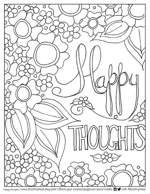 Coloring Pages For Adults Tutorial : Adult coloring video tutorial with pencils and brush pens
