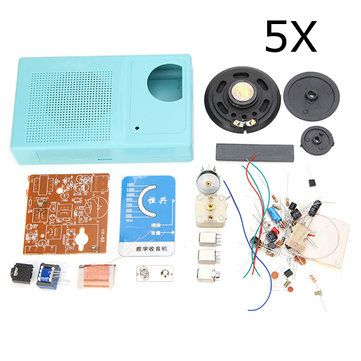 Only US$23.96, buy best 5Pcs AM Radio DIY Electronic Kit Learning Suite sale online store at wholesale price.US/EU warehouse.