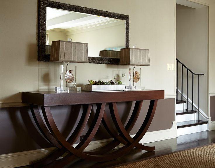 dark wood hall table. Hall De Entrada \u2013 Veja 40 Entradas Triunfais E Dicas Como Decorar! Dark Wood Table L