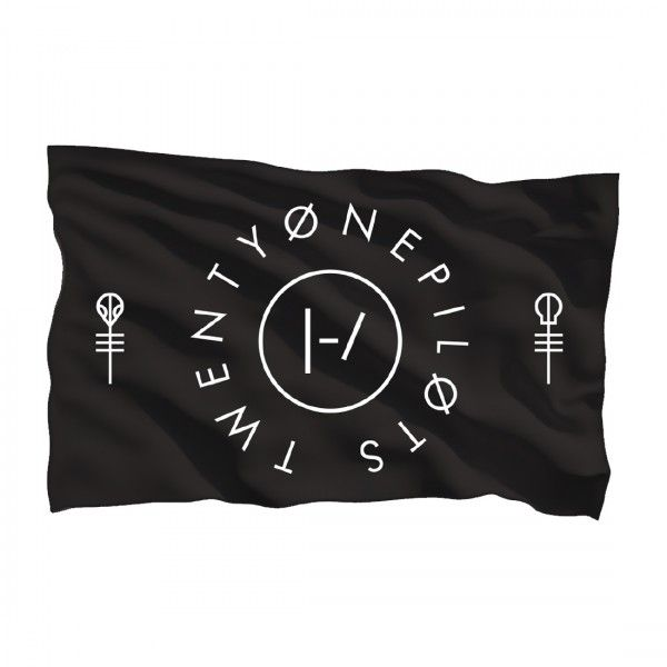 ALMOST THE ONLY THING I NEED ON THIS ENTIRE WISHLIST OMG Clique Circle Flag | Official Twenty One Pilots Store