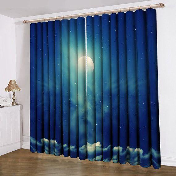 Cloud Window Curtains 3d Printing Nautical Home Decor