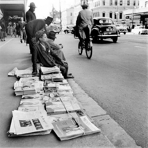 Newspaper vendor c1955. | by Etiennedup