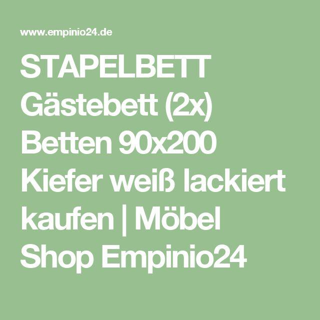 STAPELBETT Gästebett (2x) Betten 90x200 Kiefer weiß lackiert kaufen | Möbel Shop Empinio24