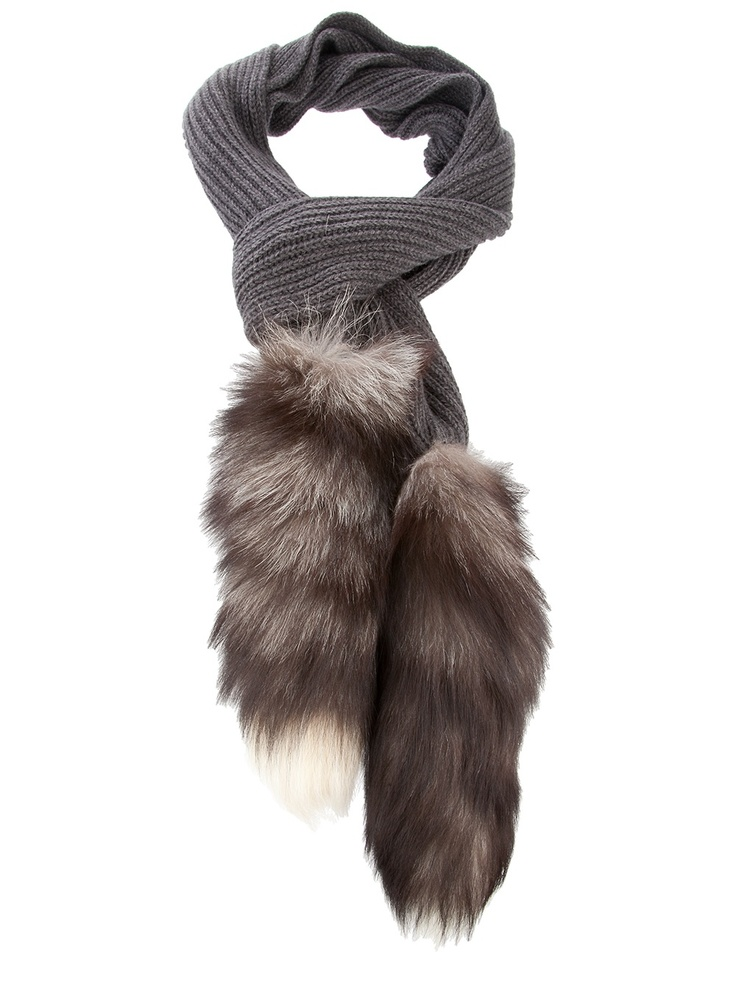 dolce and gabana fox fur scarf. plain scarf/coon tails. Different, but I like.