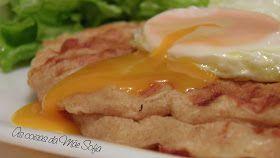As coisas da Mãe Sofia: Waffles salgadas com ovo estrelado