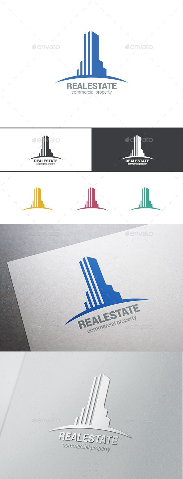 Logo Real Estate Skyscraper — Photoshop PSD #stylish #abstract • Available here → https://graphicriver.net/item/logo-real-estate-skyscraper/9524984?ref=pxcr