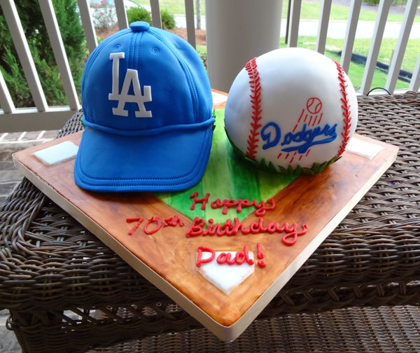 Cap Cake, Dodgers Party And Cubs V Dodgers