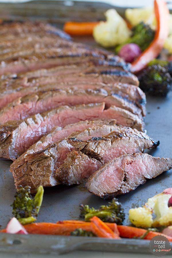 Arrachera es marinado en una mezcla de vinagre balsámico, mostaza y especias y luego asados a la perfección en este Steak balsámico parrilla flanco.