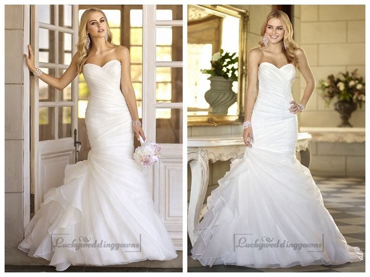 Trumpet Asymmetrical Pleated Bodice Sweetheart Vintage Wedding Dresses http://www.ckdress.com/trumpet-asymmetrical-pleated-bodice-sweetheart-  vintage-wedding-dresses-p-2020.html  #wedding #dresses #dress #lightindream #lightindreaming #wed #clothing   #gown #weddingdresses #dressesonline #dressonline #bride