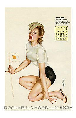 Pin Up Girl Poster 11x17 Varga Alberto Vargas calendar November 1944 Military