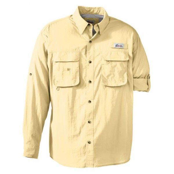 CAMISETA ANGLER    Camisa manga larga, elaborada en material 100 % Nylon Malla interior de ventilación $120.000 http://www.sanragua.com/ropa-para-hacer-ecologia/indumentaria-masculina/camisa-angler/