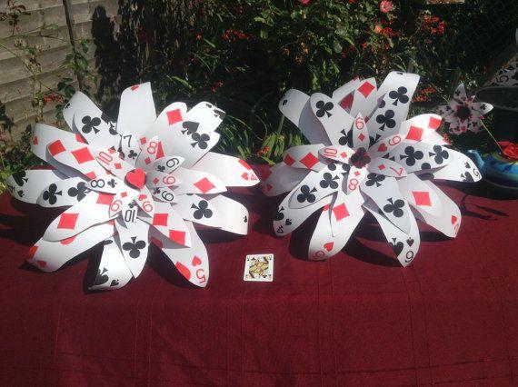 Casino de las vegas de bouquet du jeux de cartes géant fleur Alice en fête de mariage de wonderland
