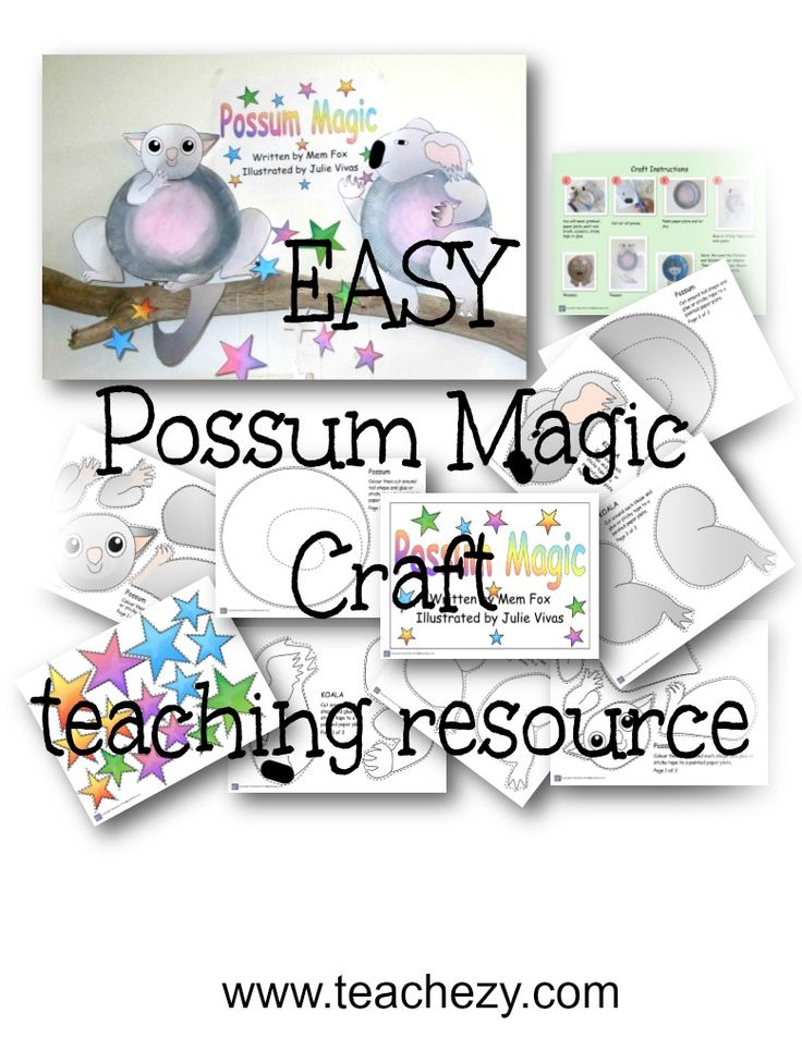 Possum Magic Craft resoure. Step by step instructions to make this very easy low-prep craft. Results are gorgeous. The kids loved it!