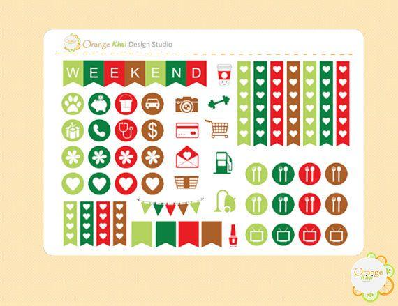 Gingerbread Cookie Weekly Kit Sampler Planner Stickers Erin
