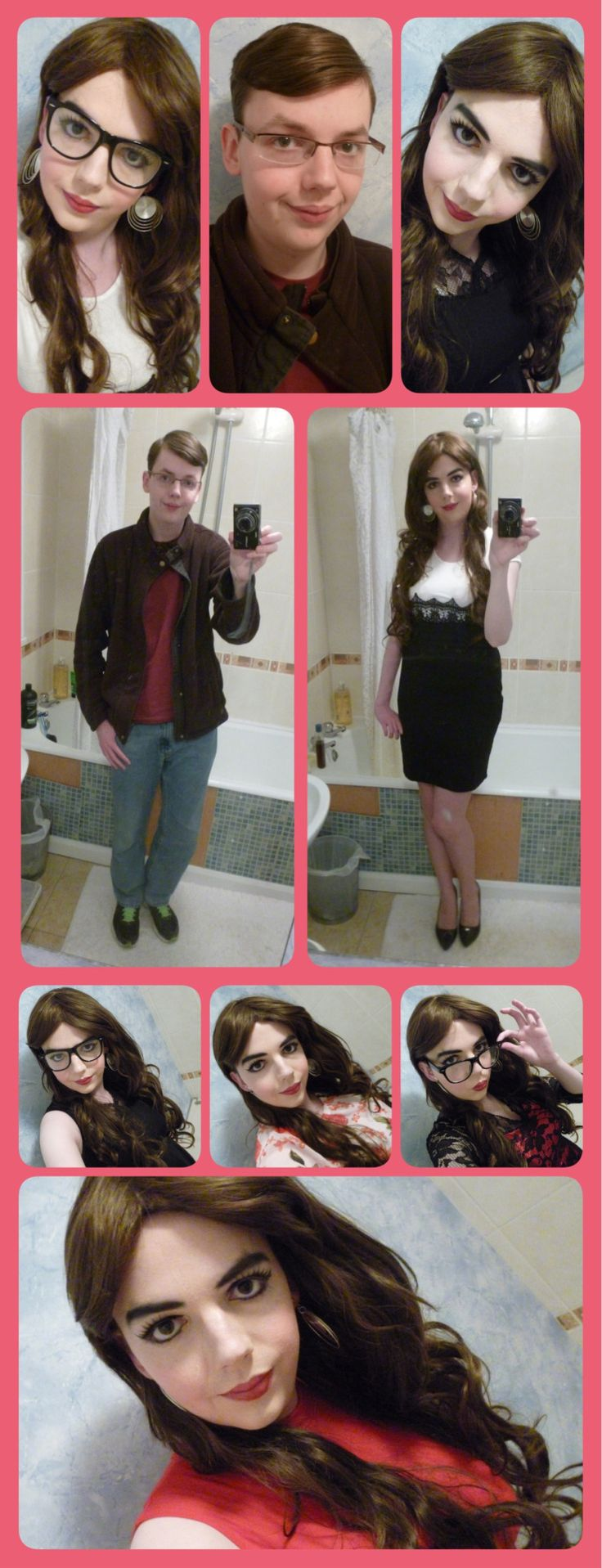 CrossDressing | Male to Female TransformationI have been trying to make a new Transformation Picture for a while now, and it seems many of you have been waiting for one too. So today I made this one, hope you like it <3