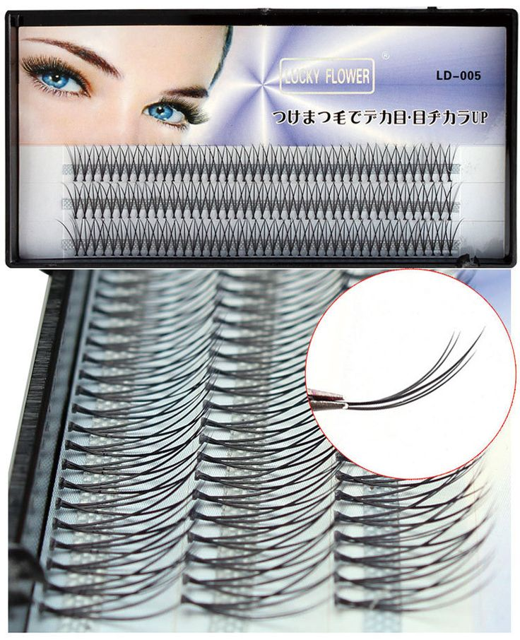 Natural Individual False Eyelashes 6d 0.07mm real hair eyelash extension makeup toolFree Shipping