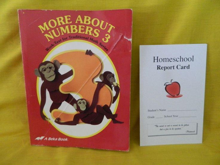 ABeka Math,  More About Numbers 3 Math Workbook, Homeschool or School, 3rd Gr #WorkbookStudyGuide