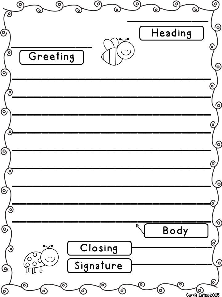 Letter Template Writing A Templates on for first grade,