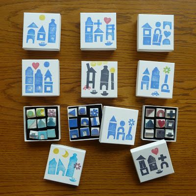 a Stamp a Day: building with stamps