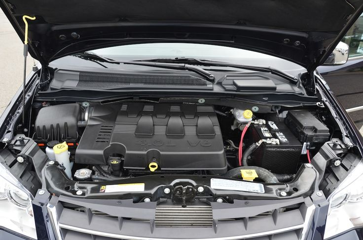 The Engine of the 2010 Chrysler Town and Country Touring PL For Sale