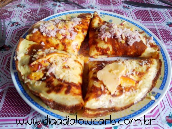 Crepe com atum e queijo ou quatro queijos