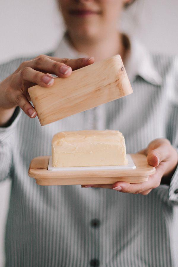 Butterdose Aus Zirbenholz Zirben Butterdose Kuchenzubehor