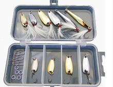 Hot sale 19 Pcs/box Mighty bite Spoon fishing lure set Kit pesca isca artificial Sirajiong Fly fishing tackle silver gold  $US $11.56 & FREE Shipping //   http://fishinglobby.com/hot-sale-19-pcsbox-mighty-bite-spoon-fishing-lure-set-kit-pesca-isca-artificial-sirajiong-fly-fishing-tackle-silver-gold/    #fishingrods