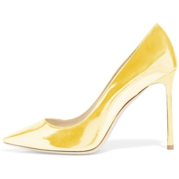 FSJ Women Classic Dress Pumps Metallic Leatherette High Heels Slip On... (431.800 IDR) ❤ liked on Polyvore featuring shoes, pumps, wide fit shoes, metallic slip on shoes, high heel pumps, wide width shoes and wide width pumps