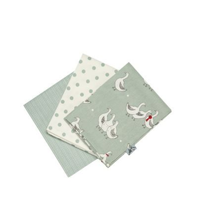 At home with Ashley Thomas Set of three light green duck printed tea towels | Debenhams. Delivered today!