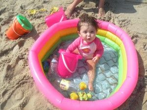 Beach Tip - Baby pool...I thought of this and did it for 2 babies under 1 yr....amazing as the sand can over stimulate at young age and didn't have to chase around in big body of water
