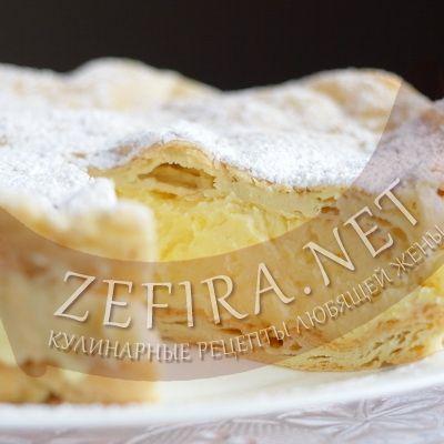 Заварной пирог с заварным кремом «Карпатка»-домашние рецепты с фото