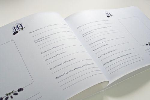gaestebuch lavendel fragen foto hochzeit geburtstag. Black Bedroom Furniture Sets. Home Design Ideas