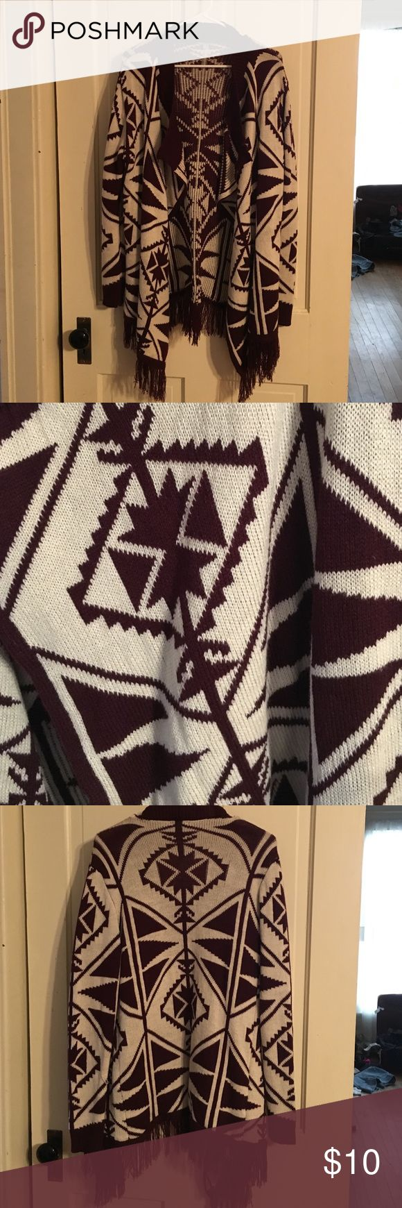 Aztec sweater cardigan This cardigan is in excellent condition a great splash of style and a great way to stay warm Charlotte Russe Sweaters Cardigans