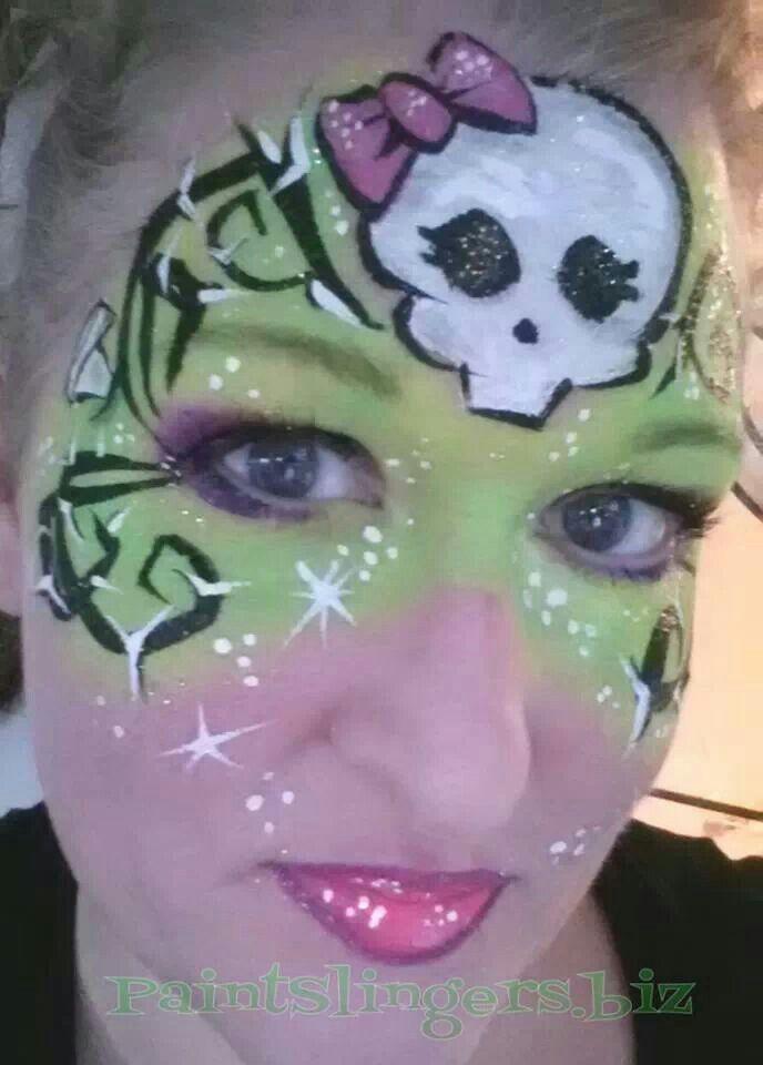 Monster High Halloween face painting Lisa joy young inspired design paintslingers.biz