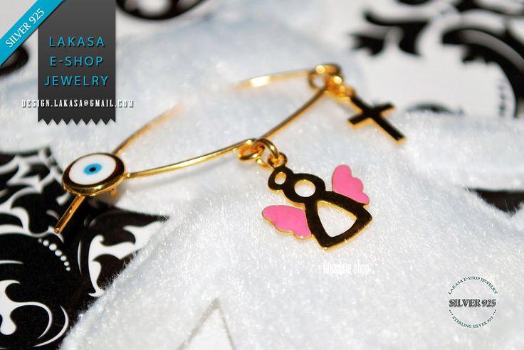 #angel #baby #girl #pink #enamel #brooch #silver #jewelry #motherday #joyas #mujer #woman #moda #jewellery #γυναικα #μωρο #νεογεννητο #δωρο #παραμανα #καρφιτσα #αγγελακι #σμαλτο #αγγελος Pink Enamel Sweet Angel Baby Brooch Sterling Silver 925 Gold-plated Handmade Jewelry Cross Enamel Eye - Order Code: 01pinN27G Χειροποιητη Καρφιτσα Παραμανα Μωρου Ασημενια 925 Επιχρυσωμενη Αγγελακι Σμαλτο ροζ Σταυρο Ματακι φυλαχτο. Δωρο  νεογεννητα, βαφτιση, γενεθλια μωρου.  Ελληνικο Χειροποιητο Κοσμημα
