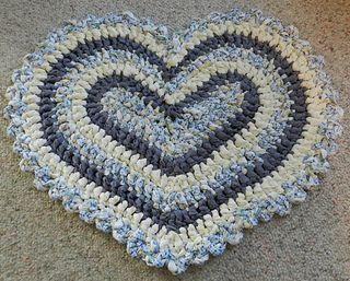 Crochet Heart Rag Rug by Kelli Bryan  $5.99