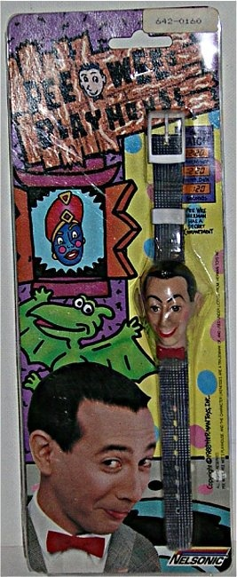 Vintage Pee Wee Pee-Wee Herman Figural Watch. I'm pretty sure I had this and the yo-yo when I was little.