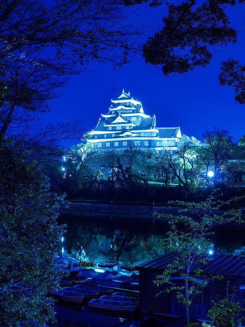 Okayama Castle at Night in Okayama, Japan | The Royal ...